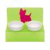 Миски на подставке «Любимый йорк» салатовая