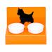 """Миски на подставке """"Любимая собачка"""" оранжевая"""