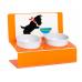 """Миски на подставке """"Щенок и миска"""" оранжевая"""