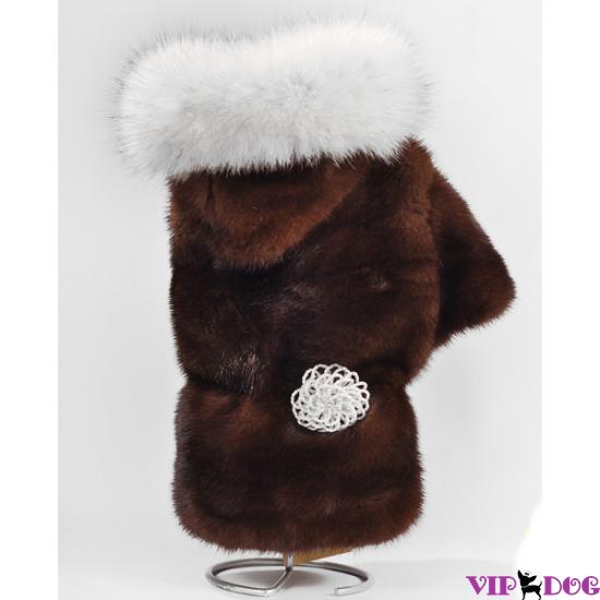 """Куртка с капюшоном норка СТК + песец """"Вуалевый"""""""