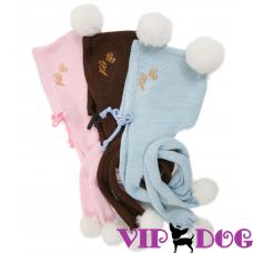 307 Шапка с шарфом «Стильное тепло»