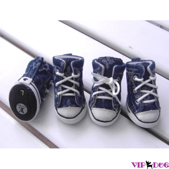 Кеды для собак «Louis Vuitton» джинсовые
