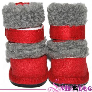 """Ботинки """"New UGG"""" красные"""