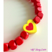 Бусы - Желтое сердце