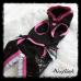 """017 Костюм """"Star"""" черный с розовым с паетками"""