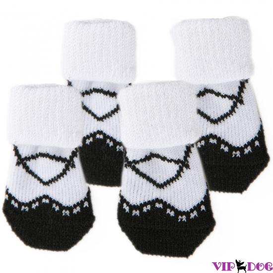 """004 Носочки """"Туфелька"""", чёрные"""