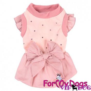 Платье розовое - Бант