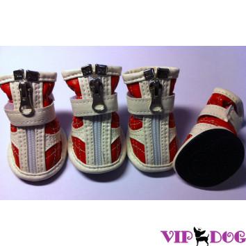 Ботинки - Красные с белым